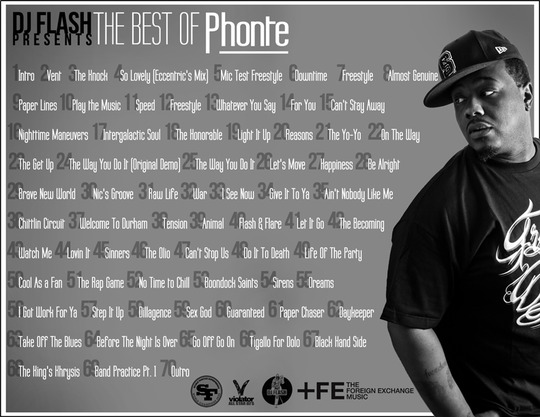 The Best of Phonte Tracklist - DJ Flash (@DJFlashJLeague) Presents: The Best Of Phonte (@Phontigallo) (Mixtape)